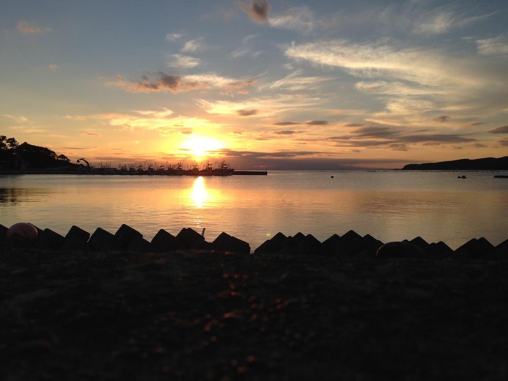 牡鹿半島の夕焼け