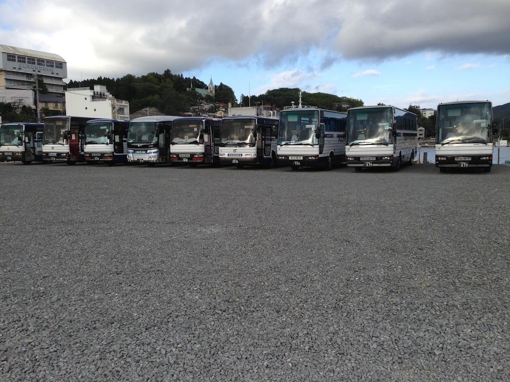 気仙沼への観光バス