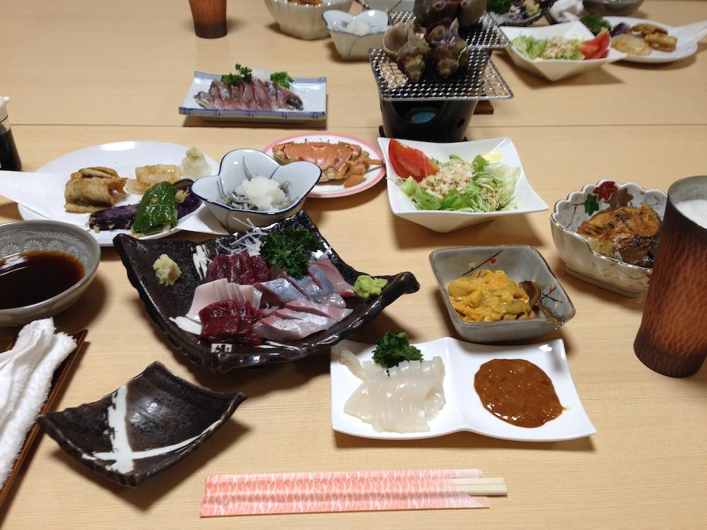 泰平荘の夕食